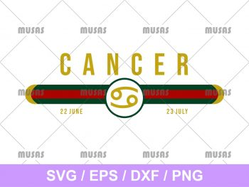 Gucci Cancer Zodiac SVG