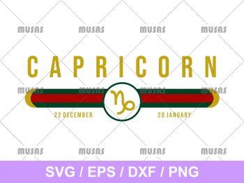 Gucci Capricorn Zodiac SVG