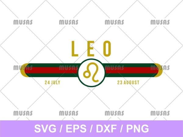 Gucci Leo Zodiac SVG