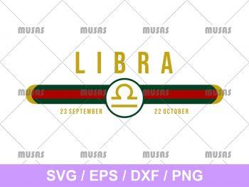Gucci Libra Zodiac SVG