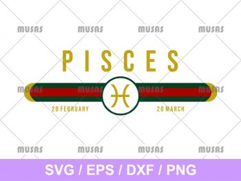 Gucci Pisces Zodiac SVG