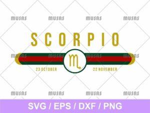 Gucci Scorpio Zodiac SVG