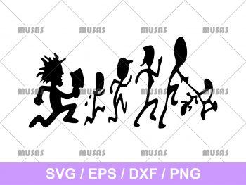 Hatchet Man Run Stick Family SVG