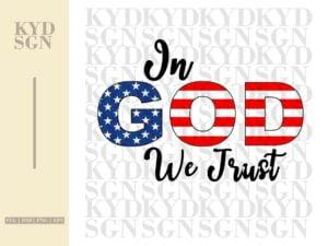 In God We Trust SVG