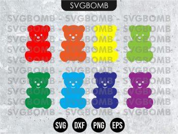 Jelly Gummy Bear SVG