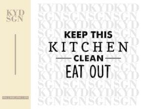 Kitchen Clean Sign SVG