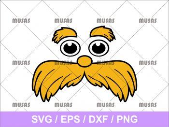 Lorax Face SVG
