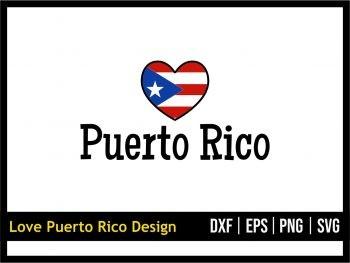 Love Puerto Rico SVG