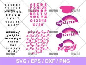 My Little Pony Font SVG