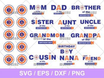 Nerf Birthday SVG