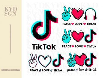 Peace Love Tiktok SVG