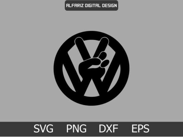 Peace VW Vectorency Peace VW SVG