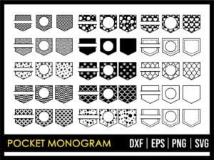Pocket Monogram SVG