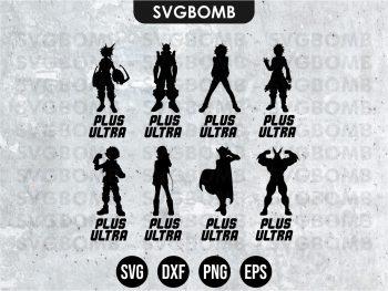 Silhouette My Hero Academia SVG