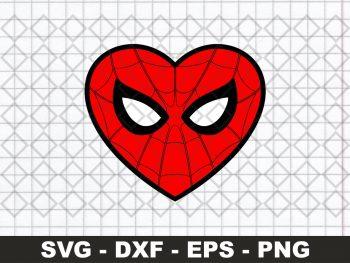 Spiderman Heart SVG