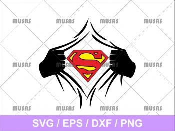 Superhero Superman SVG