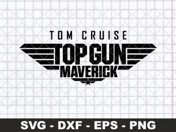 Tom Cruise Top Gun Maverick SVG