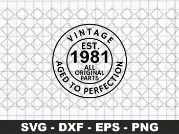 Vintage 1981 Shirt SVG