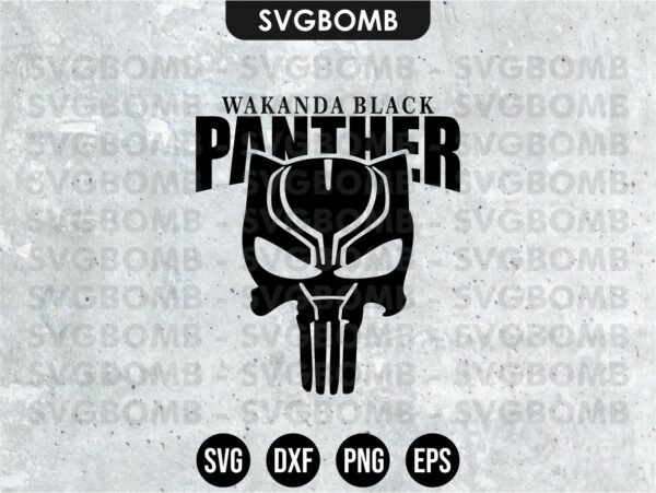 Wakanda Black Panther SVG