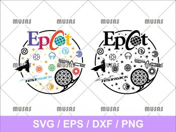 Walt Disney Epcot SVG