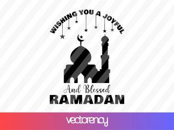 Wishing You A Joyful And Blessed Ramadan SVG