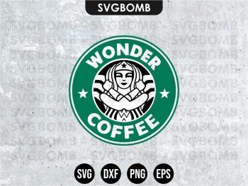 Wonder Woman Starbucks SVG