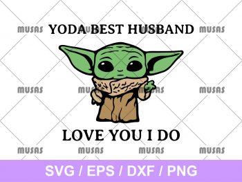 Yoda Best Husband Love You I Do SVG