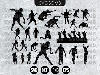 Zombie Silhouette SVG