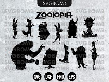 Zootopia Silhouette SVG