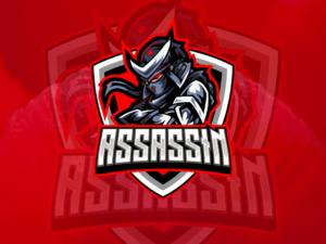 assassin logo esport vector
