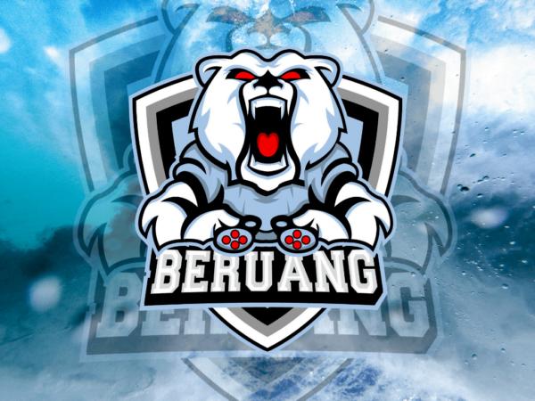 bear logo esport gaming vector