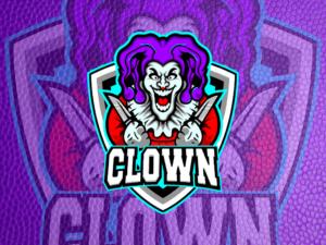 clown gaming logo esport