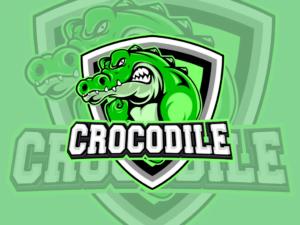 crocodile logo esport vector