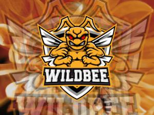 wildbee bee logo esport vector