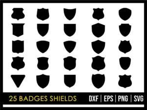 25 Badges Shields SVG