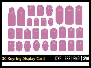 30 Keyring Display Card SVG