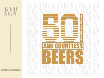 50th Birthday Beer SVG