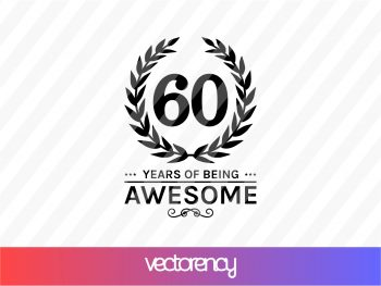 60 Years of Being Awesome SVG