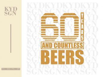 60th Birthday Beer SVG