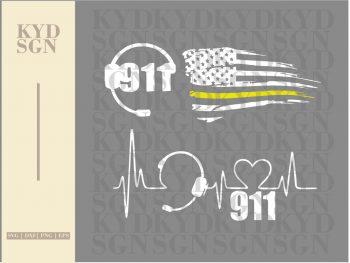 911 Dispatcher American Flag SVG