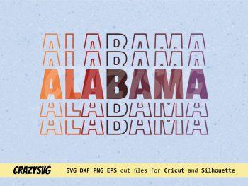 Alabama Mirror Style SVG