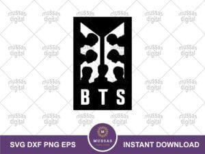 BTS Logo Silhouette SVG