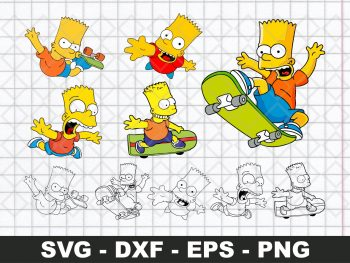 Bart Simpson SVG