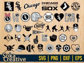 Baseball Chicago White Sox SVG Bundle