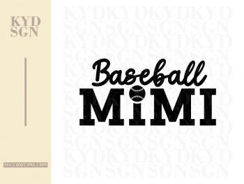 Baseball Mimi SVG