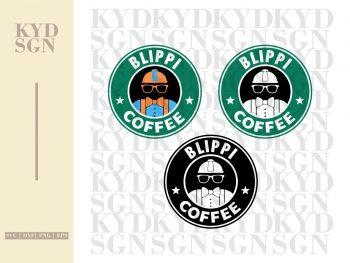 Blippi Coffee Starbucks SVG