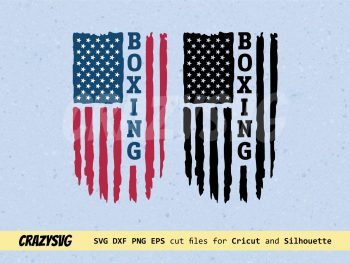 Boxing American Flag Distressed SVG