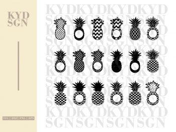 Bundle Pineapple Monogram SVG