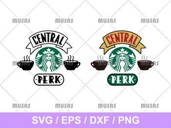 Central Perk Starbucks Cup SVG