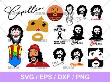 Cepillin Clown SVG